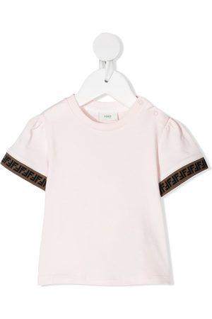 Fendi Girls T-shirts - FF trim T-shirt