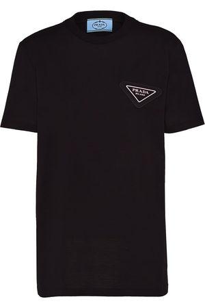 Prada Triangle-logo jersey T-shirt