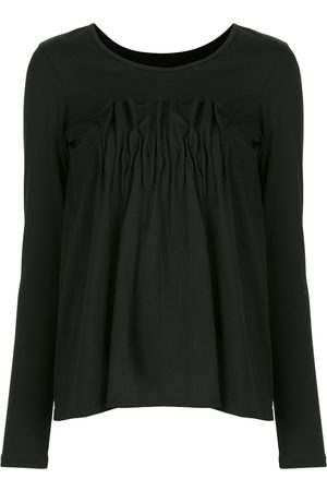 YOHJI YAMAMOTO Women Long Sleeve - Box-pleat long-sleeved jersey
