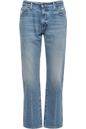 Khaite Kyle Cotton Denim Straight Jeans