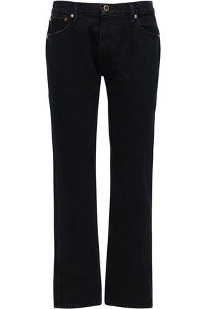 Khaite Kyle Low Waist Denim Straight Jeans