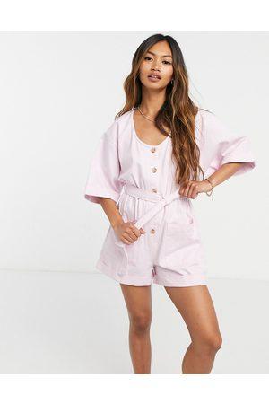 ASOS Kimono sleeve romper in lilac