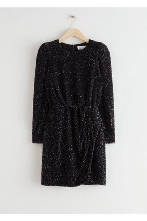 & OTHER STORIES Padded Shoulder Sequin Dress