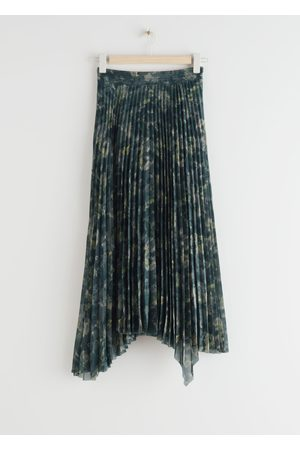 & OTHER STORIES Pleated Asymmetric Midi Skirt
