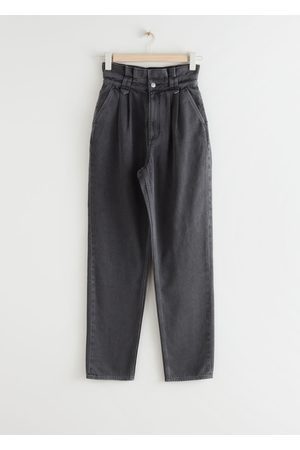 & OTHER STORIES Tapered High Waist Paperbag Jeans