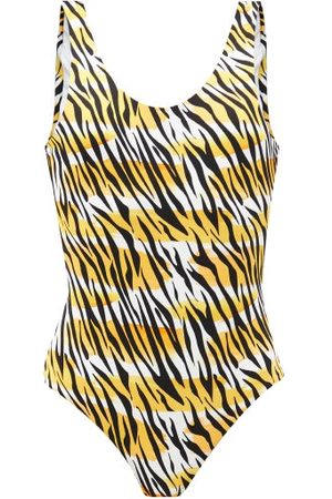 Reina Olga For A Rainy Day Scoop-back Leopard-print Swimsuit - Womens - Print