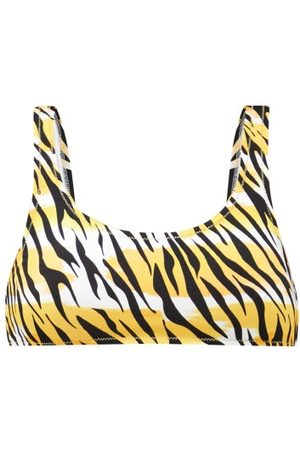 Reina Olga Rocky Scoop-neck Tiger-print Bikini Top - Womens - Print