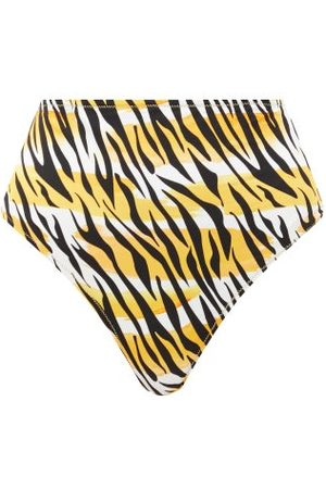 Reina Olga Hutton High-rise Tiger-print Bikini Briefs - Womens - Print