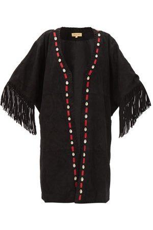 Muzungu Sisters Duni Shell-appliqué Tasselled Suede Jacket - Womens - Multi