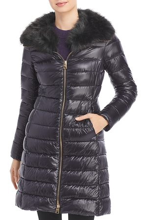 HERNO Elisa Faux Fur Collar Puffer Coat