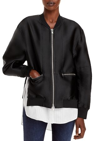 3.1 Phillip Lim Layered Look Bomber Jacket
