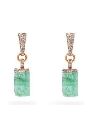 JADE JAGGER Women Earrings - Diamond, Emerald & 18kt Drop Earrings - Womens