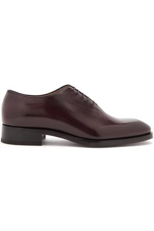 Christian Louboutin Men Formal Shoes - Cousin Corteo Square-toe Leather Oxford Shoes - Mens