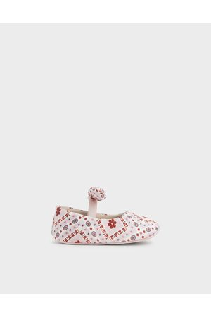 CHARLES & KEITH Purpose Collection - Baby Girls' Bandana Print Bow Ballerinas