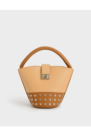 CHARLES & KEITH Bags - Studded Bucket Bag