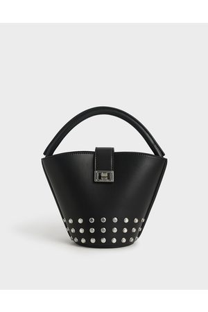 CHARLES & KEITH Studded Bucket Bag