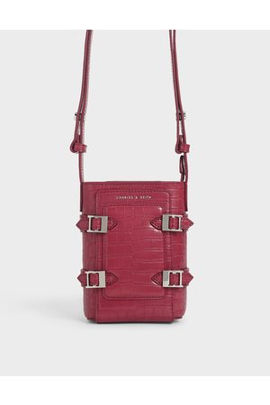 CHARLES & KEITH Bags - Small Croc-Effect Buckle Bucket Bag