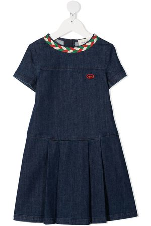 Gucci Web-detail denim dress