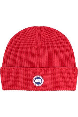 Canada Goose Men Beanies - Logo patch beanie