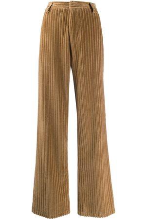 Ami Wide leg corduroy trousers - Neutrals
