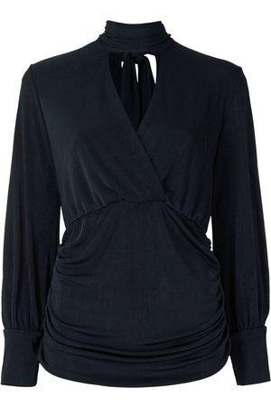 Alcaçuz Stand-up collar blouse