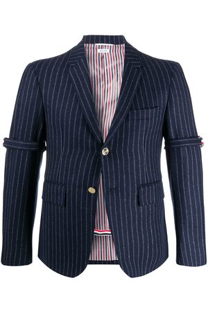 Thom Browne Chalk-stripe armband jacket