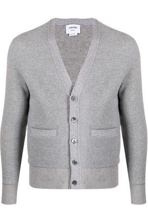Thom Browne Cashmere pique cardigan - Grey