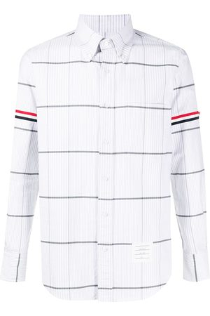 Thom Browne Oversized check oxford shirt - Grey