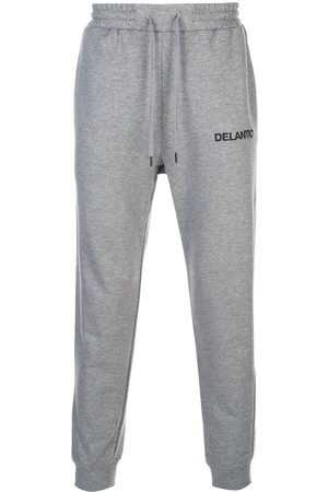 Delantic Logo embroidered trackpants - Grey