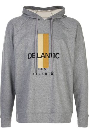 Delantic Logo print hoodie - Grey