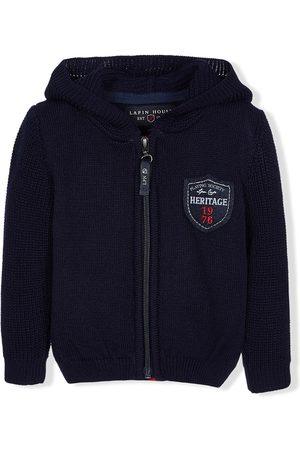Lapin House Chunky-knit zipped hoodie