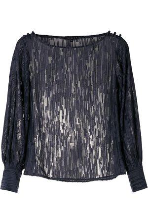 Alcaçuz Grid pattern blouse