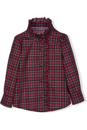 Lapin House Girls Shirts - Ruffled tartan shirt