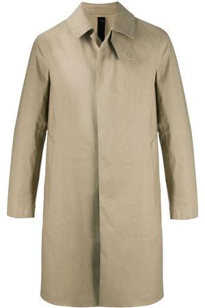 MACKINTOSH Oxford bonded cotton coat - Neutrals
