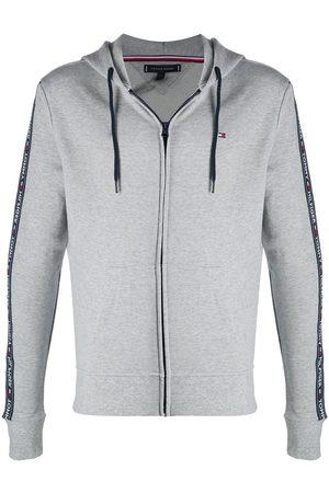 Tommy Hilfiger Logo-tape zipped hoodie - Grey