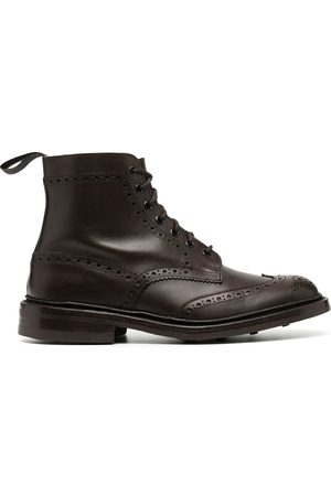 TRICKERS Men Brogues - Burnished brogue-detail boots