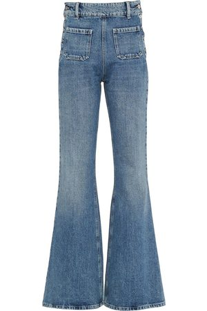 Miu Miu Women Flares - Sailor fastening flared jeans