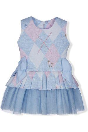 Lapin House Baby Printed Dresses - Argyle print dress