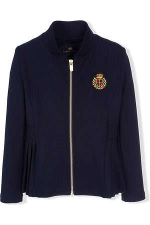 Lapin House Crest-embroidered zipped jacket