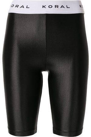 Koral Logo waistband shorts