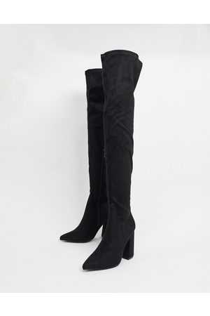 Truffle Collection Thigh high heeled boots in