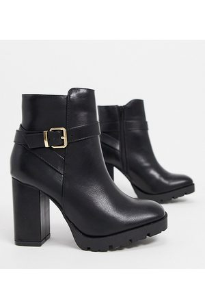 Truffle Collection Wide fit heeled boots in