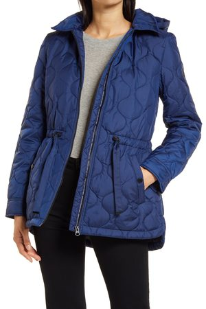 French Connection Women's Onion Quilted Hooded Coat