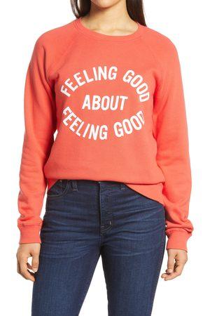 Lucky Brand Women's Feeling Good Graphic Cotton Sweatshirt