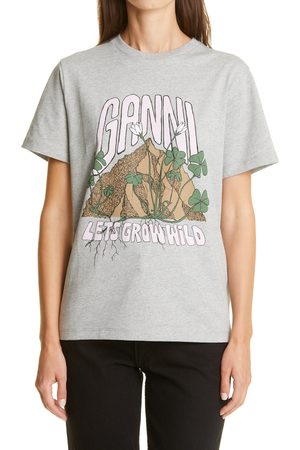 Ganni Women's Grow Wild Logo Graphic Tee