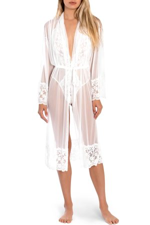 Jonquil Women's Words Of Love Lace & Mesh Robe