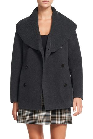 THEORY Women's Shawl Collar Peacoat
