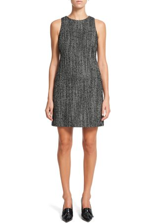 THEORY Women's Tweed Sleeveless Sheath Dress