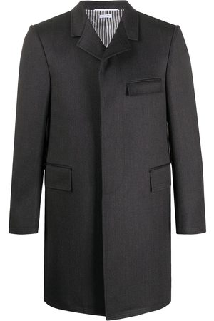 Thom Browne Cavalry twill chesterfield coat - Grey