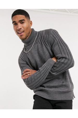 Religion Contrast shoulder roll neck sweater in